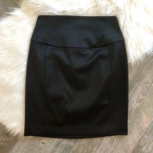 EXPRESS Black Sateen Pencil Skirt NWT